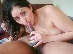 Indian Muslim Takes Cum In Throat - What's her name?