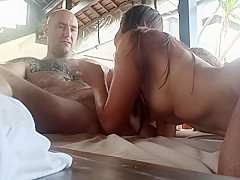 Eating pussy, blowjob, her foot on my cock,