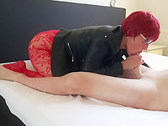 Fuck me in my Leather Jacket and give me a double penetration!!