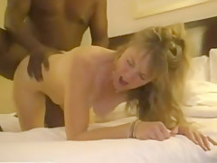 Big titted wife tries a hard black cock fuck