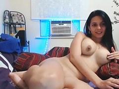 порно видео бесплатное девушка с большим членом