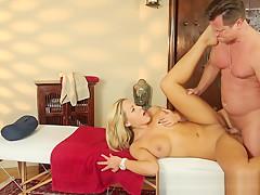 Massage beauty orally pleasured on spycam