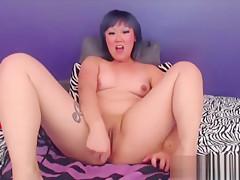 Giggling asian hottie Black Rainbow