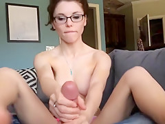 Her First Footjob and Blowjob