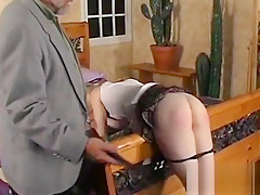 Sexy female fucked and stimulated in extreme servitude