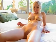 Blonde in public and at home