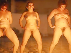 Pissing competition on the beach