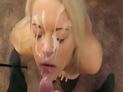 Blond Girl Gets Facial And Then Fuck