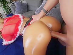 Demi Lopez in Candy Cane Challenge