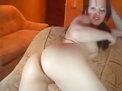 Ukranian girl shows her pussy on cam