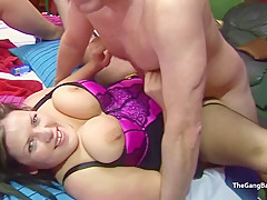 Dumb younger BBW will let any guy fuck her