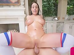 Big Tit Angela White Oiled Up And Fucked