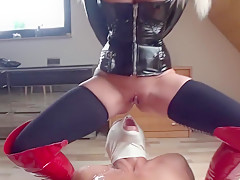 I made a fetish action in homemade couple sex video