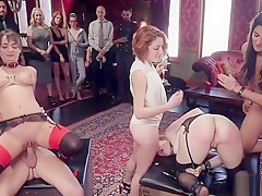 Swingers party bdsm caning and fucking