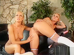These divas are horny as they get to be threesomed