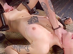 Alt slut gets ass red from caning