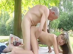 Married Teen Cheating with Grandpa