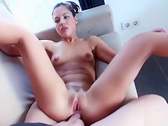 Pretty amateur girlfriend takes cock in her ass after shower
