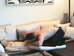 My petite angel fucks two big pricks
