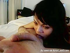 Nice Cum Hungry Asian Gf Doing A Blowjob - TheGFNetwork