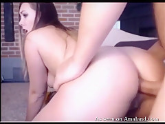 Hot Chubby Blonde Gets Fucked And Jizzed In Her Ass - TheGFNetwork