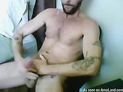 Tattooed Hairy Hunk Masturbating - 429Videos
