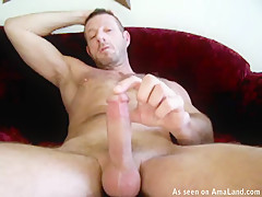 Hunky Daddy Strokes His Hard Erection - 429Videos
