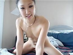 Slim Korean Camgirl Riding Her Dildo - AsianGFVideos