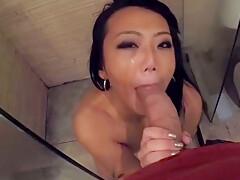 Asian Girlfriend Shower Blowjob - Part 1 - Sluttyasiancams