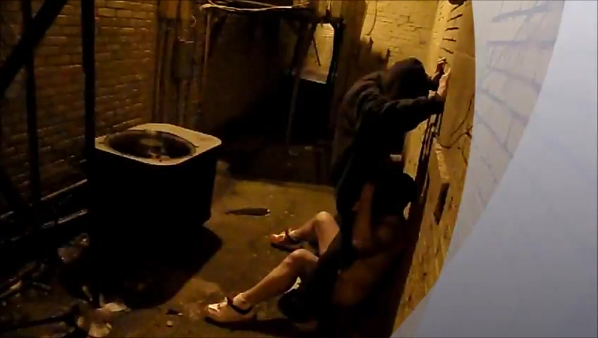 Gay Blowjob In An Alley