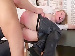 Anal of cutie is drilled