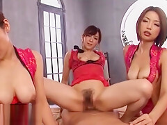 Japanese incredible massage group sex