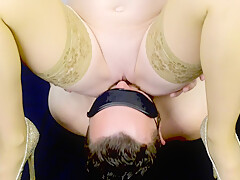 Amateur facesitting - pussy eating and ass eating to orgasm