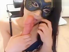 oriental girl cat webcam
