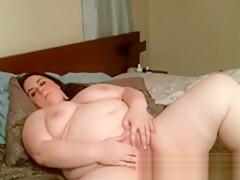 Big Tit Horny Chubby Undressing And Masturbating
