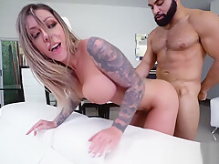 Creampie for Karma RX Shaved Pussy