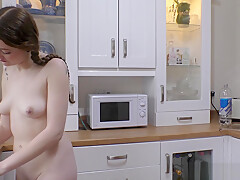 Sexy Rosie Flame dancing with downblouse showing tits