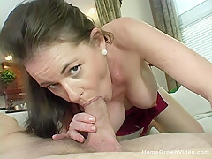 Busty brunette cougar gets stuffed by a big cock