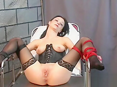 Adorable maiden is rubbing her dripping wet cuch