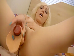 Alicia Parker Plays With Her Rubber Dickie