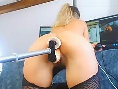 amateur fucking mashine douple penetration anal and squirt
