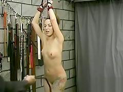 Inviting floosy is masturbating like a bitch