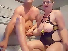 BTW Smoking & Rubbing Daddys Big Cock
