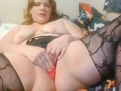 THICC BAE SMOKING N' STRETCHING IN SHEER LINGERIE - MANY SQUIRTING ORGASMS!