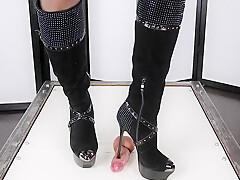 High heels BALLBUSTING CBT & Edging Orgasm Torture POV   Era