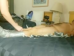 DuctTape Domination P3: Nose Sucking/Breath Play/Fucking/Female Orgasm