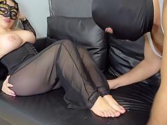 Clean all cum of off feet blonde Jaily 4k