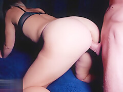 Hot Sex With a Beautiful Young Girl, Blowjob and Hard Fuck