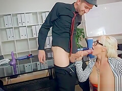 Round Big Tits Girl (Christina Shine) Get Banged In Office clip-22