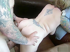 Rough Ass Fuck With A Busty Tattoed Milf